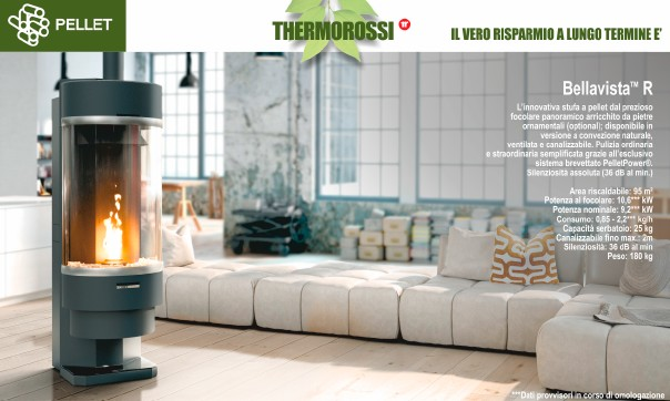 Stufe pellet thermorossi stufe bologna for Thermorossi bellavista